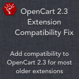 OpenCart 2.3 Extension Compatibility Fix