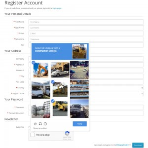 Account Registration Captcha