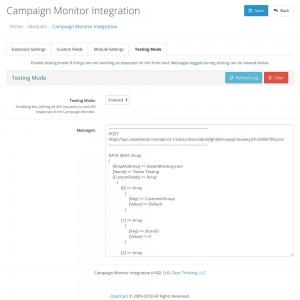 Campaign Monitor Integration