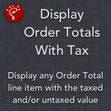 Display Order Totals With Tax