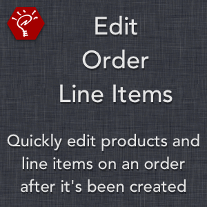 Edit Order Line Items