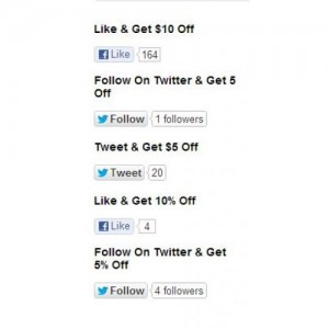 Social Discount - Like/Follow/Tweet & Get Discount