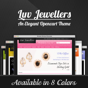 Luv Jewellers Premium Opencart 1.5 Theme in 8 Colors