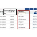 Payment Method on Admin Order List