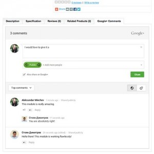 GooglePlus Comments - Lovely GooglePlus Social Integration