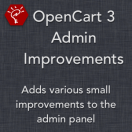 OpenCart 3 Admin Improvements
