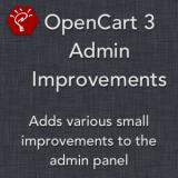 OpenCart 3 Admin Improvements