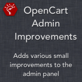 OpenCart Admin Improvements