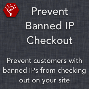 Prevent Banned IP Checkout