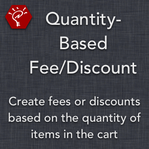 Quantity-Based Fee/Discount