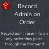 Record Admin on Order
