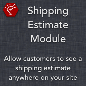 Shipping Estimate Module