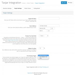 TaxJar Integration